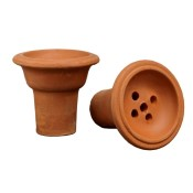Unglazed Clay Hookah Bowl